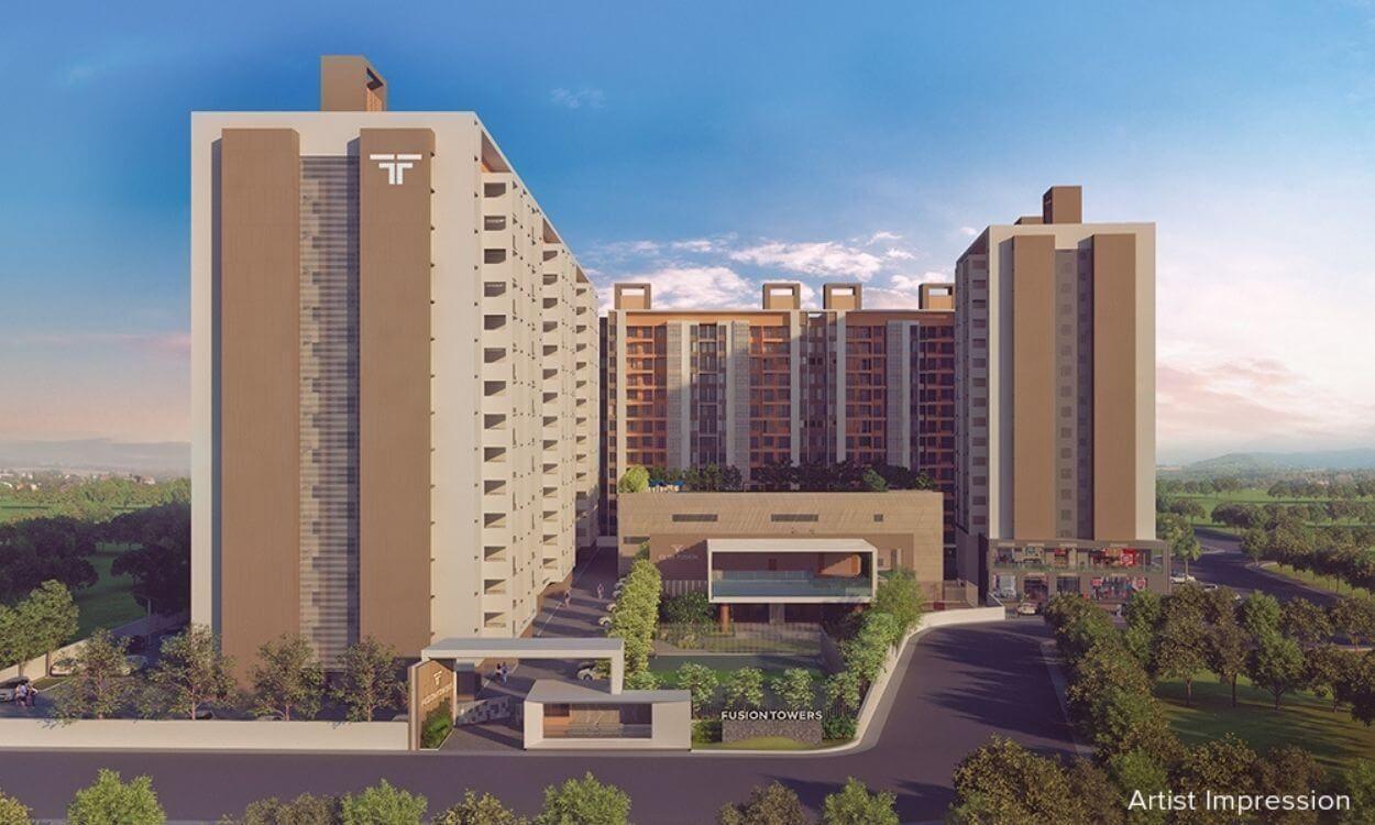fusion towers - fusion towers R - Fusion Towers Plot A1, S.No. 41/6, Opp. TCS Gate, No 2, Bhoirwadi Rd, next to Melange Residences, Phase 3, Hinjawadi,