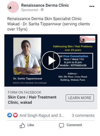 Renaissance Derma Clinic  Lead Generation Ads using Video of your Product/Service renaissance derma clinic png