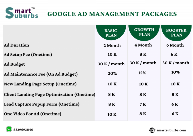Google Ad Management Packages